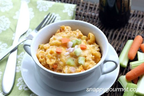 Slow Cooker Buffalo Chicken Macaroni and Cheese Recipe
