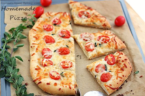Cheese Pizza with Homemade Pizza Dough Recipe
