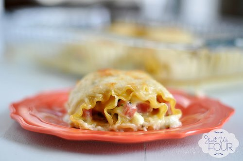 Ham and Swiss Lasagna Rolls Recipe
