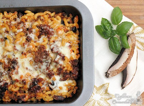 Baked Cheeseburger and Mushroom Pasta Recipe