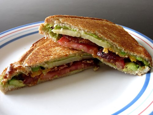 Bacon Tomato Guacamole Grilled Cheese Recipe