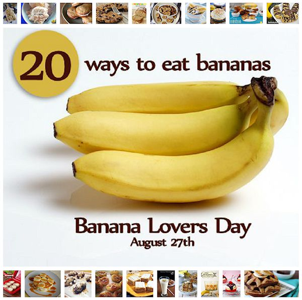 20 recipes for banana lovers day