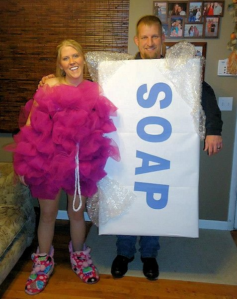 Bar of Soap and Loofah Costumes