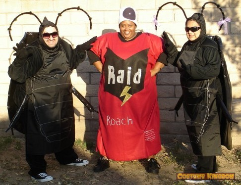 Roaches and Can of Raid Costumes
