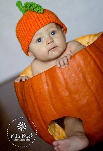 blakes first halloween pumpkin