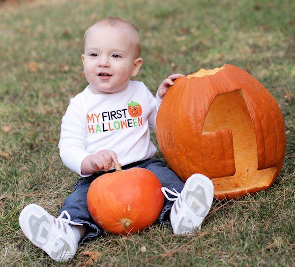 Mason's First Halloween Pumpkin