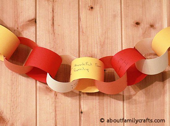 Gratitude Chain Craft