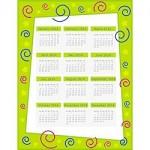 2014 Calendar Page - Green 250