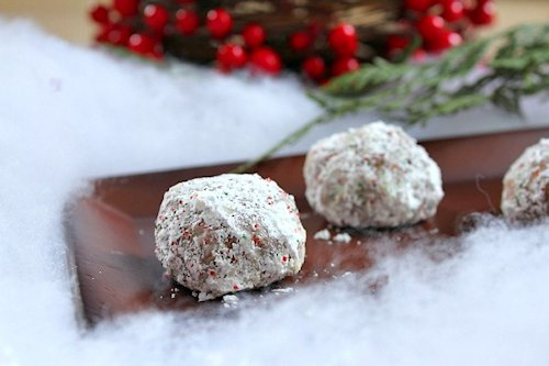 Chocolate Snowball Cookie
