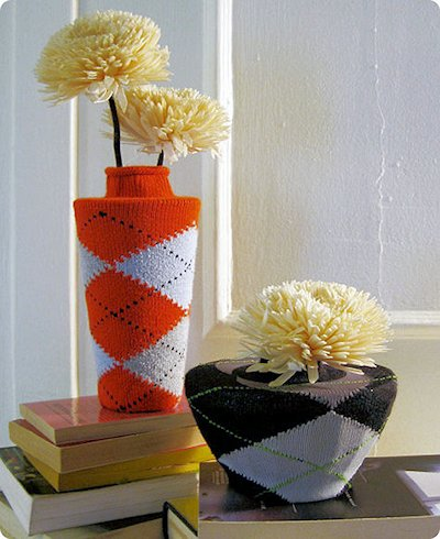 Argyle Sock Vases