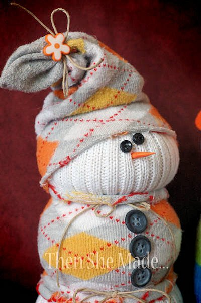 Argyle Sock Snowman