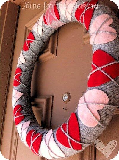 Heart Argyle Wreath