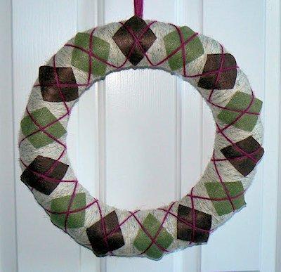 Fall Argyle Wreath