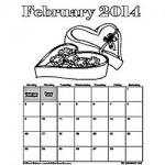 February 2014 calendar 250