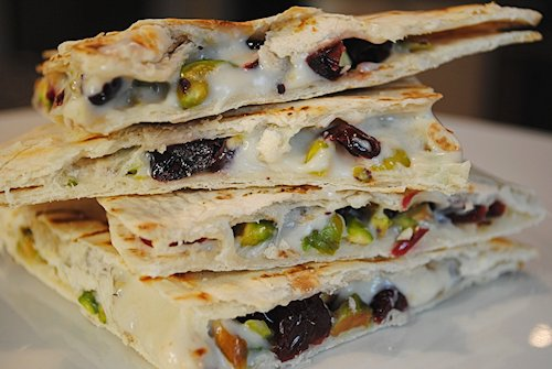12 Grilled Cranberry-Pistachio Quesadillas