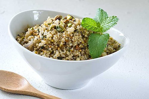 18 Pistachio Garlic Mint Quinoa Pilaf