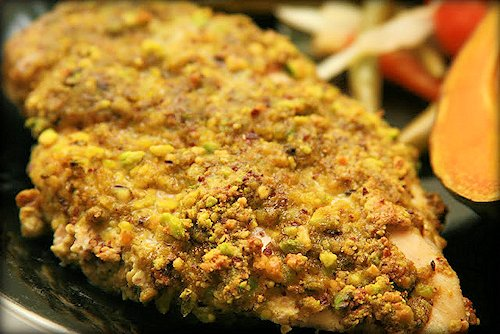 2 Pistachio Crusted Baked Chicken