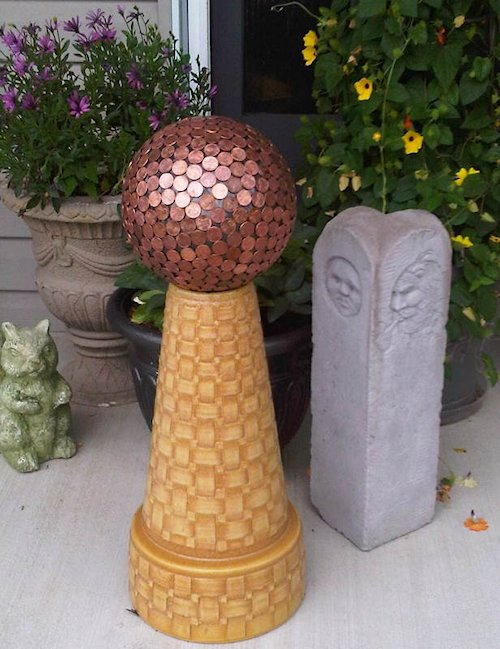 Bowling Ball and Penny Gazing Ball
