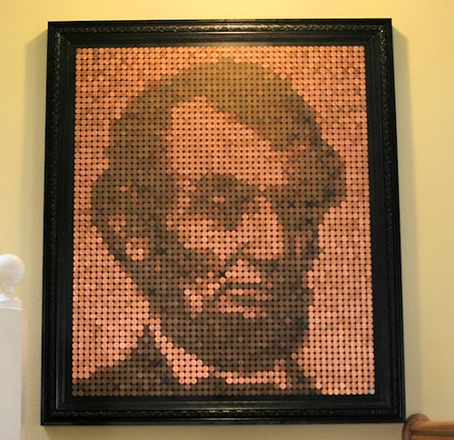 Penny Mosaic Abraham Lincoln