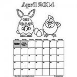 April-2014 printable calendar 250