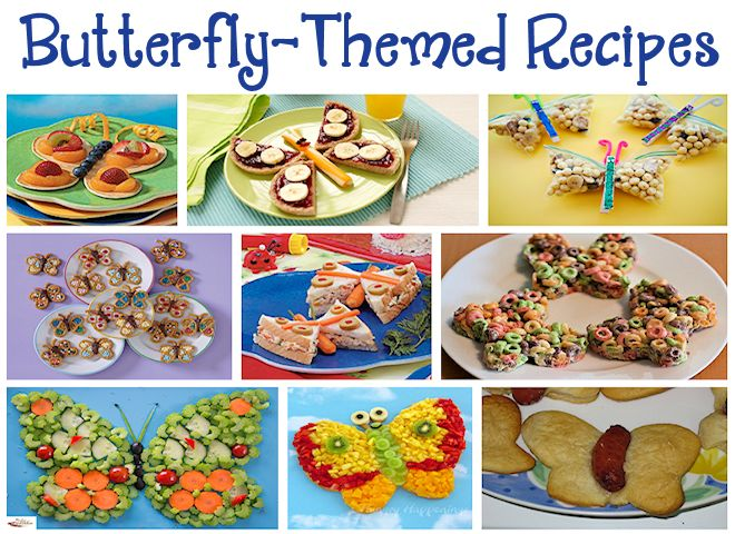 Butterfly-Themed Recipes