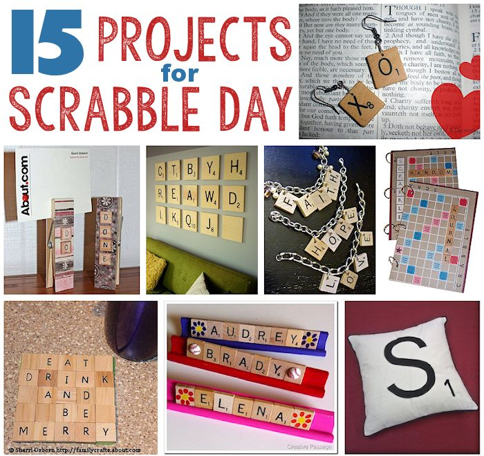 15 Projects for Scrabble Day
