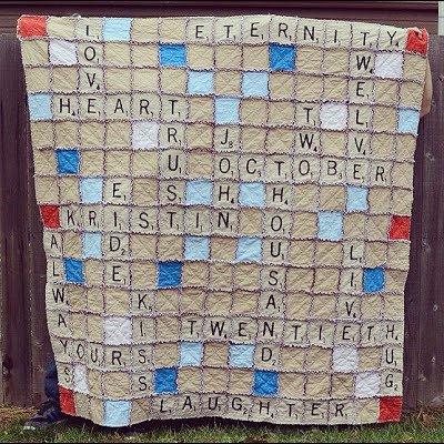 Scrabble Rag Quilt