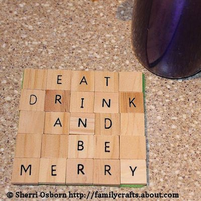 Scrabble Tile Coaster Craft