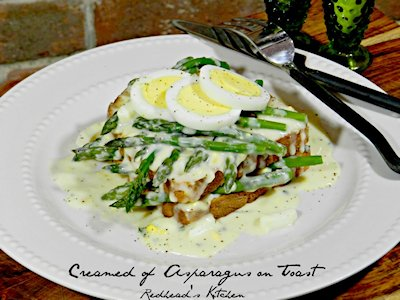 Creamed Asparagus on Toast