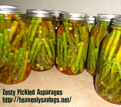 Canned Zesty Pickled Asparagus