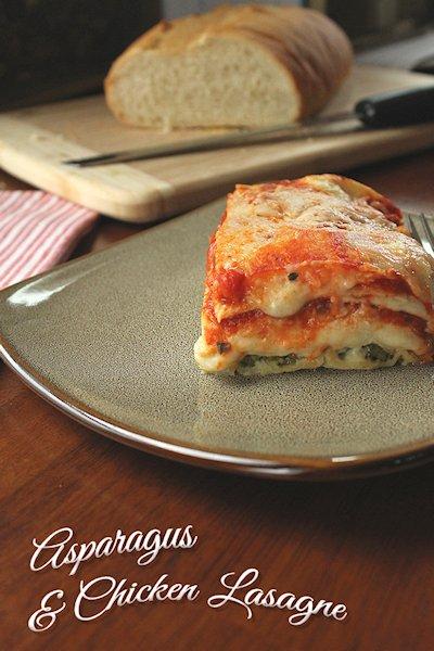 Asparagus Chicken Lasagna