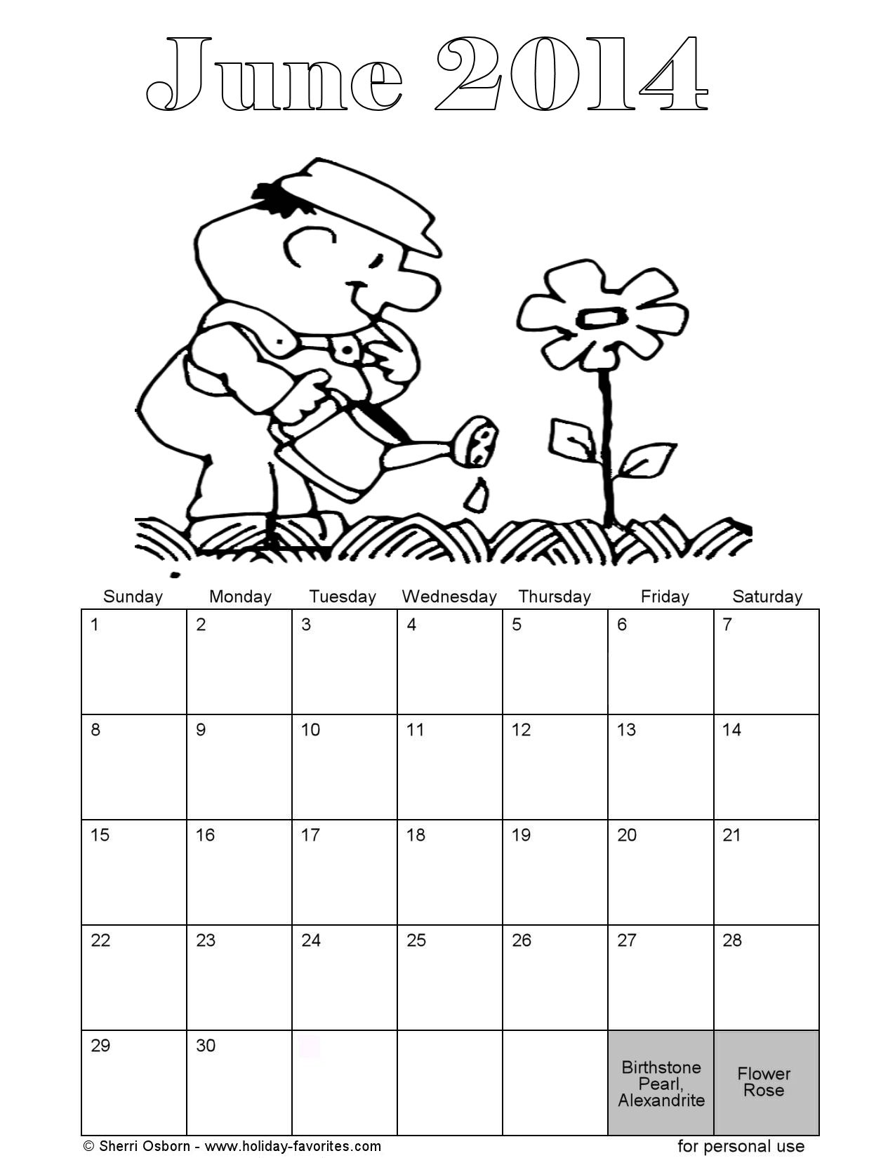 page a day calendar coloring pages - photo #35