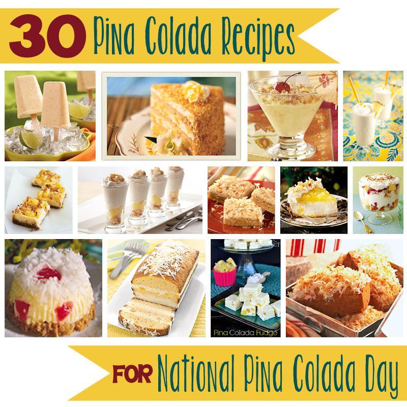 30 Recipes for National Piña Colada Day