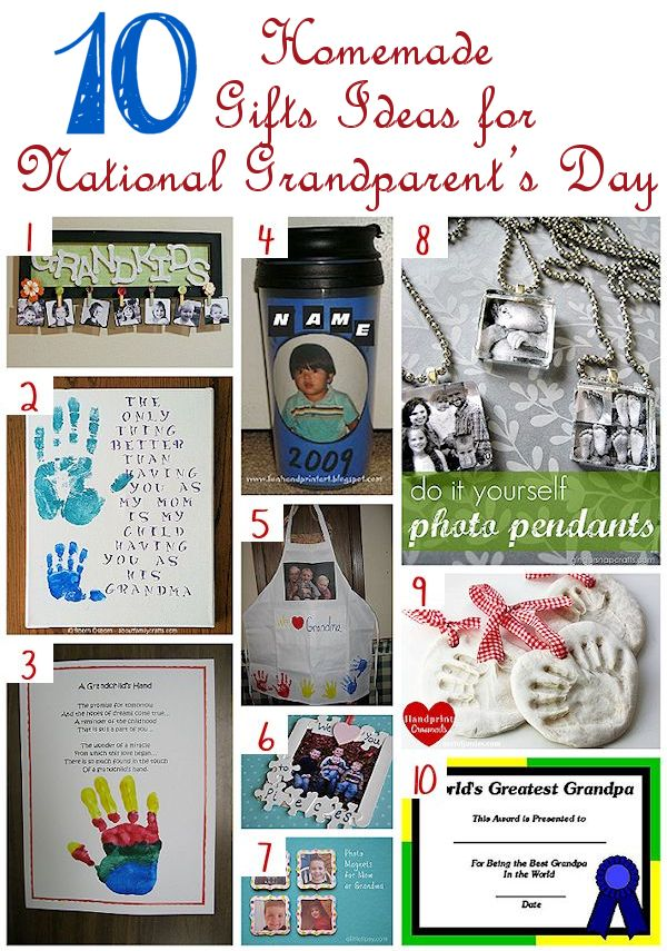 10 homemade gifts for national grandparents day