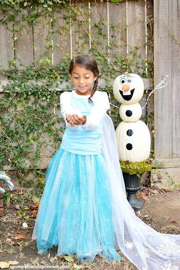 Last-Minute Disney Frozen Elsa Tutu Costume