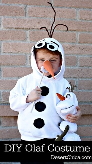 DIY Sweatshirt Olaf Costume