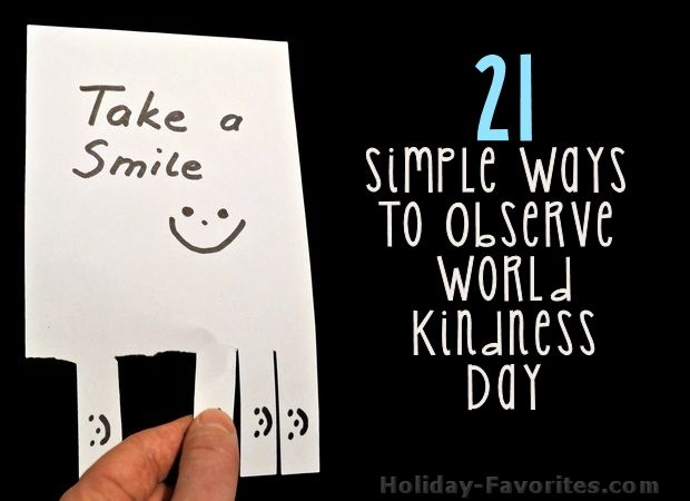 21 Simple Ways to Observe World Kindness Day