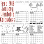 Janury 2016 free printable calendars 250