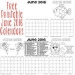 Free Printable June 2016 Calendars 250