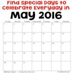 May 2016 Holidays and Special Days 250