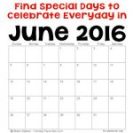 June 2016 Holidays and Special Days 250