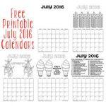 free printable july 2016 calendars 250