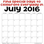 July holidays and special days 250