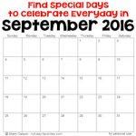 September 2016 Special Days 250