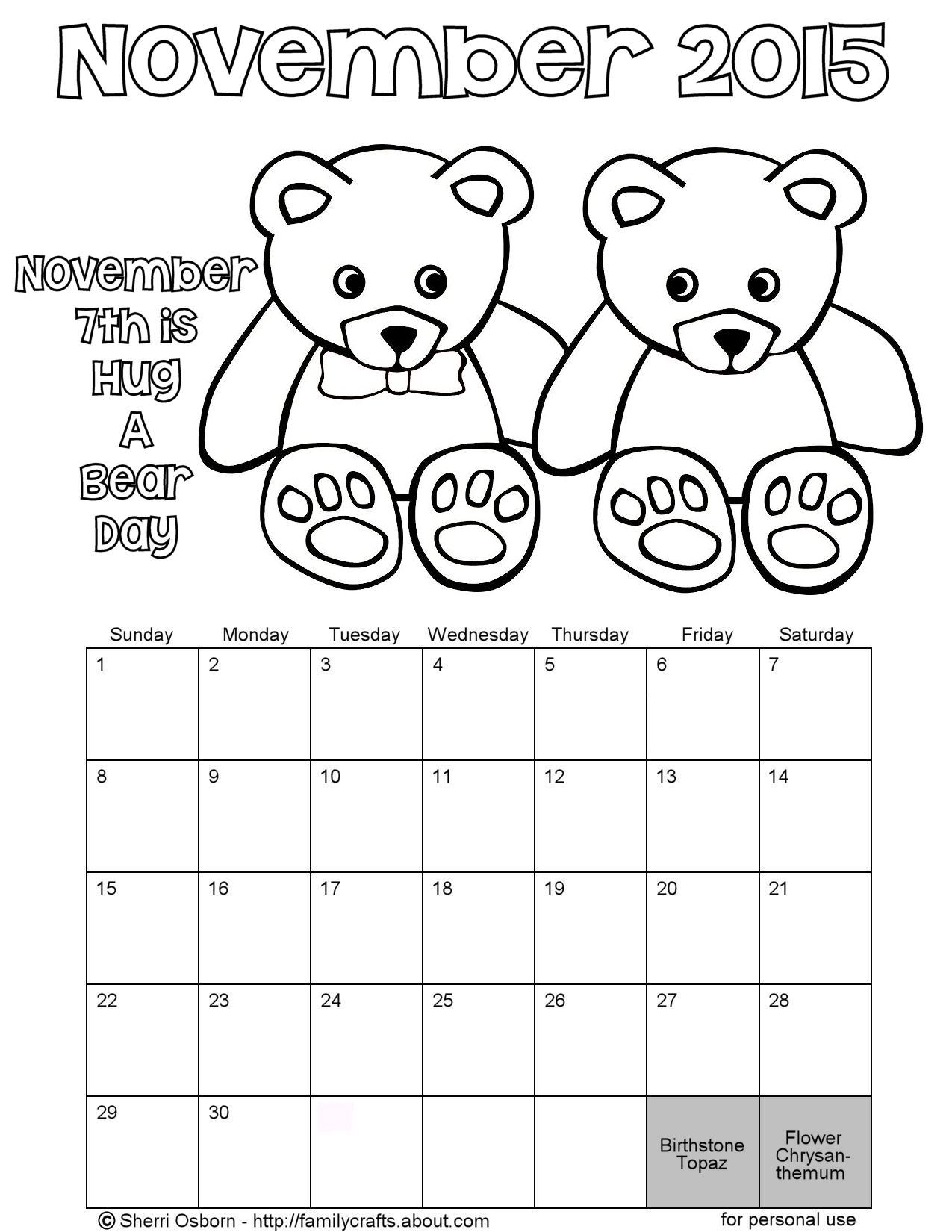 page a day calendar coloring pages - photo #21