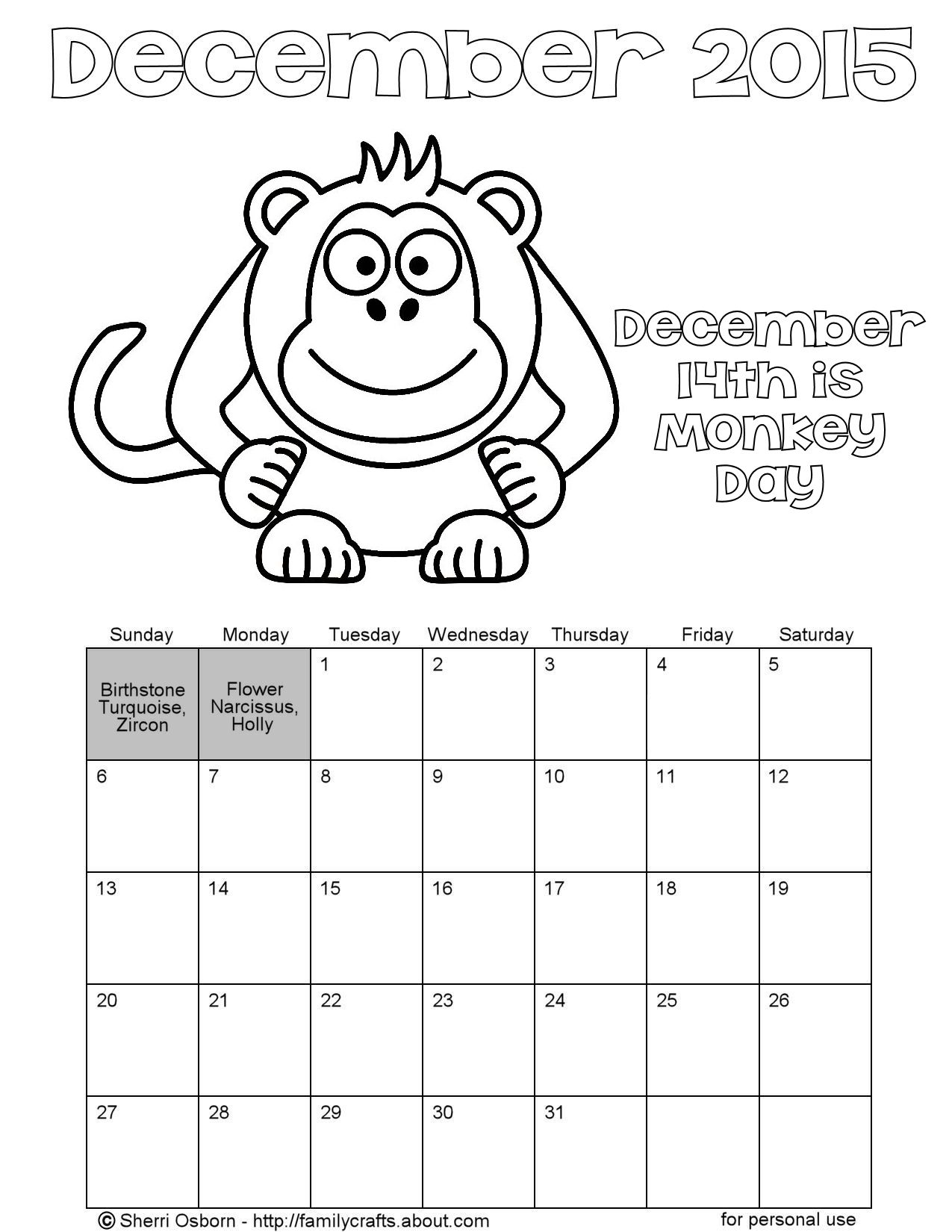 december coloring pages printable - printable december calendar pages holiday favorites