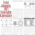 free january 2017 printable calendars 250