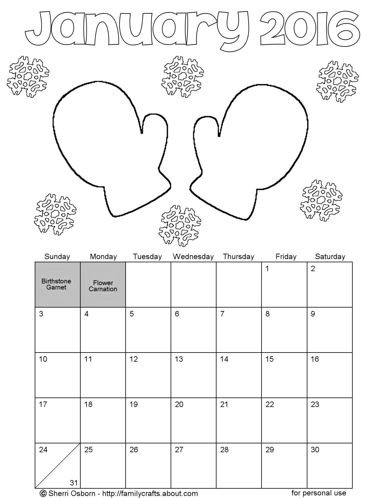 Coloring pages for january - Free Download Coloring Pages From Por Books