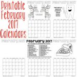 Printable February 2017 Calendars 250