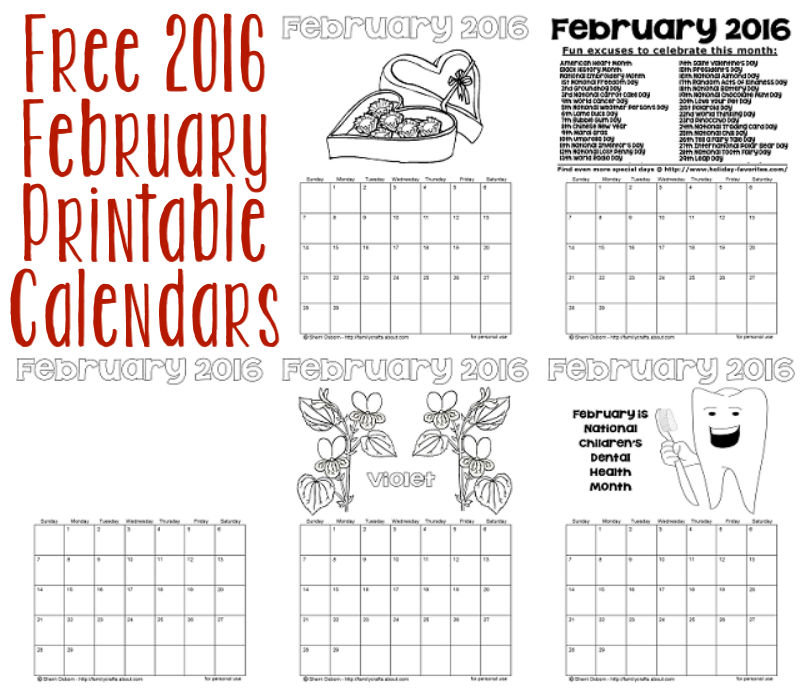 Free 2016 Calendars By Month You Can Write In | Calendar Template 2016
